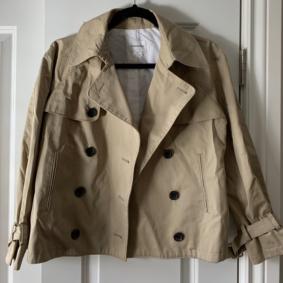 NWOT Club Monaco Cropped Trench Coat